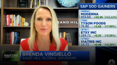 Is Valuation a Concern? Brenda Vingiello Addresses This Question on CNBC's Halftime Report | August 9, 2021